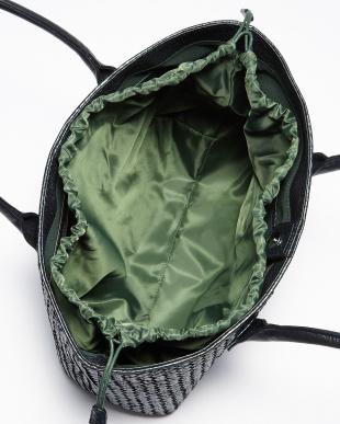 メタリックグリーン  巾着付き メッシュトートバッグ見る