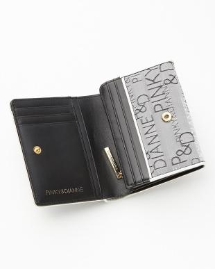 ブラック  ロゴジャカード L字ファスナー二つ折り財布見る