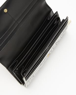 ブラック  ロゴジャカード 薄型長財布見る