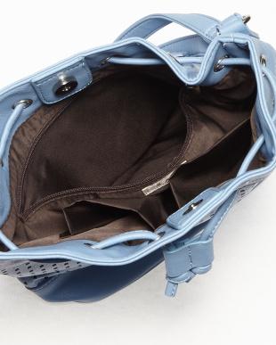 ブルー  サマール パンチング巾着バッグ見る