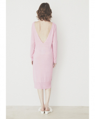 PINK  SWEET KNIT DRESS見る