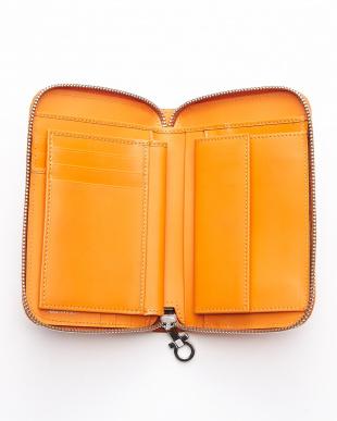 オレンジ aaa-ガンチーニラウンドZIP財布見る
