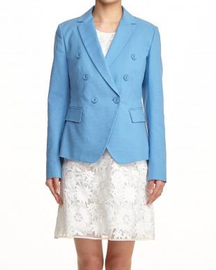 ブルー Wデザインジャケット見る