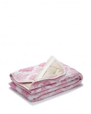 ピンク  さらっと リップル敷きパッド 100×205cm見る