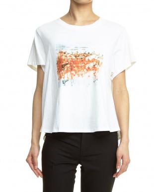 ホワイト プリントTシャツ見る
