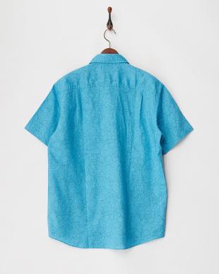 WATERFALL TURQ 麻綿ボタニカル柄半袖シャツ見る