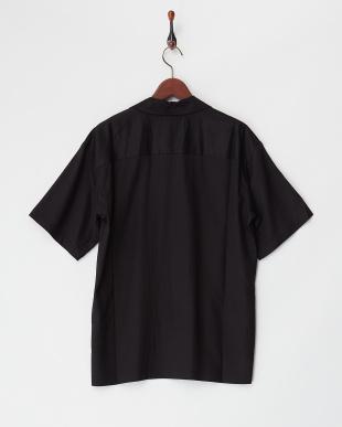 クロ  レーヨン半袖オープンシャツ見る