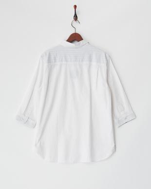 シロ  綿麻ストレッチ7分袖シャツ見る