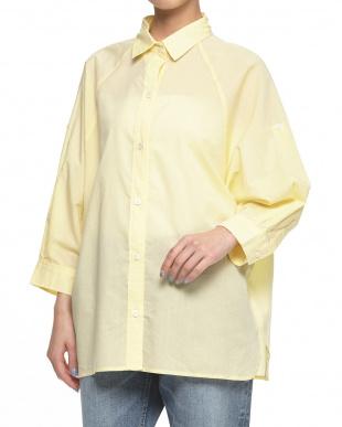 ホワイト  ドルマン抜け襟シャツ見る