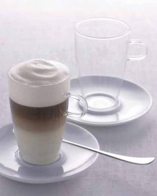 COFFEE (ラッテ・マッキアート)カップ&ソーサー 2個セット見る