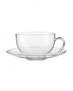 TEA(RELAX)ティーカップ&クリアソーサー 2個セット見る