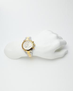 ゴールド/ホワイト  機械式腕時計 003|MEN見る