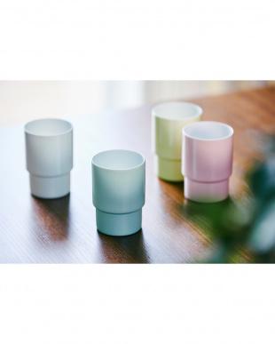 ピンク  Glass cup egg shell(エッグシェル)3個セット見る