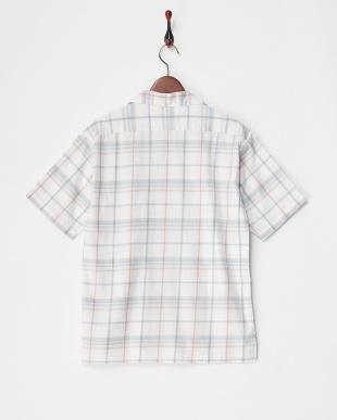 WH/CH  チェック柄オープンカラーシャツ見る