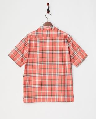 PK/CH  チェック柄オープンカラーシャツ見る