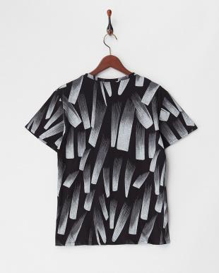 ブラック  グラデーションプリントTシャツ見る