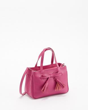 ピンク  フロントリボンミニバッグ見る