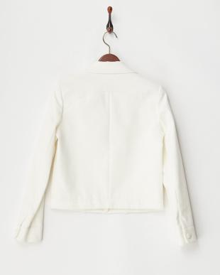 ホワイト系 デザインポケットジャケット見る