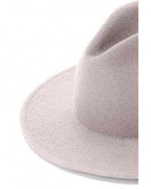 ブラック ROHW MASTER PRODUCT / PAPER LIKE BRIM WOOL FELT HAT アングローバルショップ見る