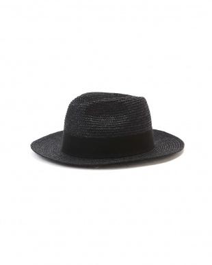 ブラック FERRUCCIO VECCHI / STRAW HAT アングローバルショップ見る