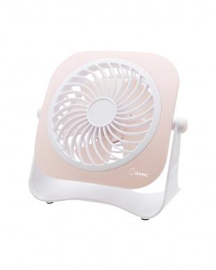 ピンク  USBミニ扇風機「ブリーファン」見る