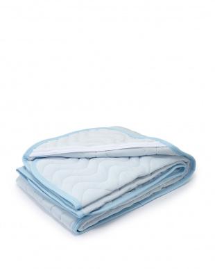 ブルー 冷やスゴッ クールパッドシーツ シングル見る