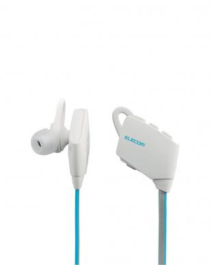 ホワイト  防水Bluetoothイヤホン見る