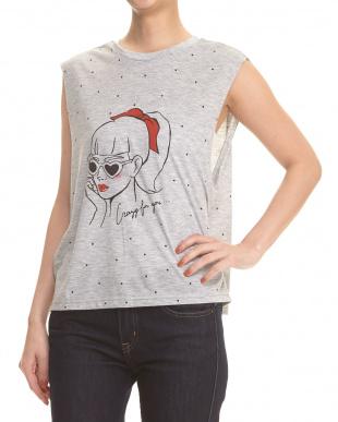 グレー GIRL Tシャツ見る