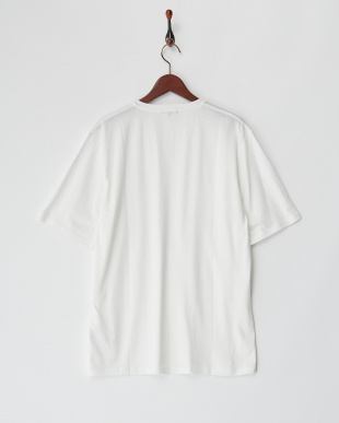 WHT  裾刺繍V/N半袖TEE WH見る