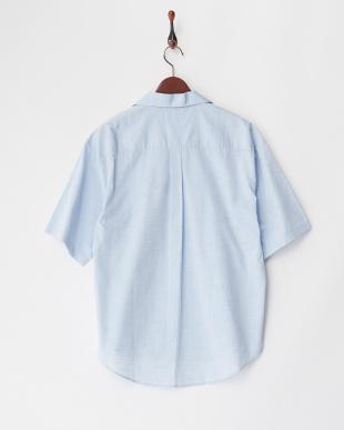 BLU  フィルロワ綿麻ステンカラーシャツ WH見る