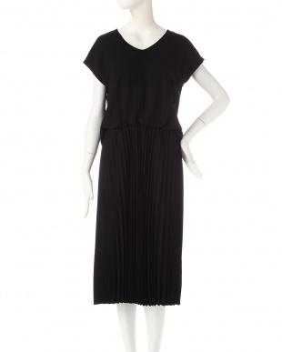 ブラック [ウォッシャブル]プリーツスカートドレス 22 OCTOBRE見る