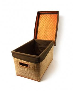 竹収納ボックス フタ付き見る