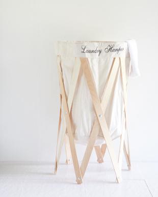 アイボリー×ナチュラル  ナチュラルな洗濯かご Laundry Hamper(ランドリーハンパー)見る
