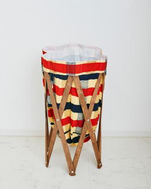 チェック×ブラウン  ナチュラルな洗濯かご Laundry Hamper(ランドリーハンパー)見る