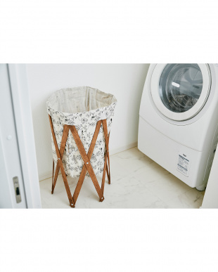 ボタニカル×ブラウン  ナチュラルな洗濯かご Laundry Hamper(ランドリーハンパー)見る