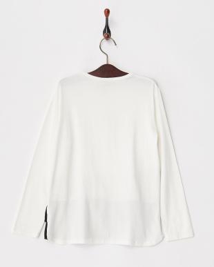 ホワイト 裾フリル&メッシュカットソー|KIDS見る