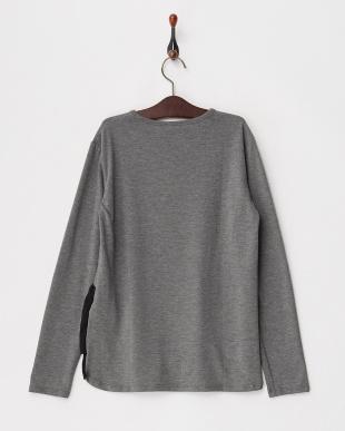 グレー 裾フリル&メッシュカットソー|KIDS見る