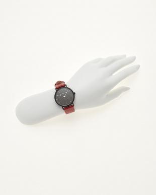 レッド/ブラック  腕時計 Verdiwatch  Perfo見る