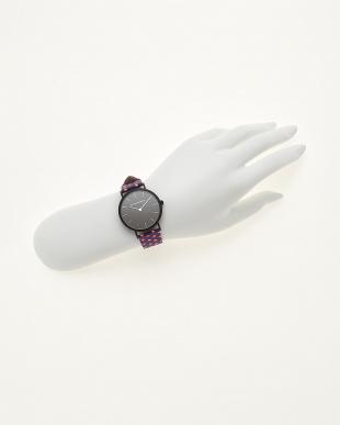 ブラックホワイトレッド/ブラック  腕時計 Verdiwatch  Micro hexagon見る