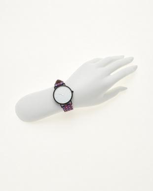 ブラックホワイトレッド/ホワイト  腕時計 Verdiwatch  Micro hexagon見る