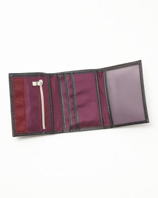 ブラック  STRIPPO-L 02  三つ折り財布見る