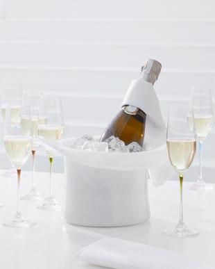 ホワイト  Bella シャンパンクーラー/ベース グラスハット見る