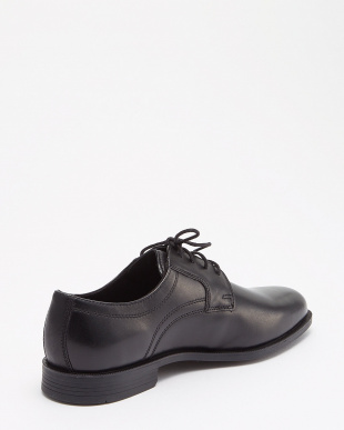 BLACK LEATHER  DUSTIN PLAIN TOE II見る