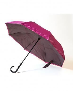 ピンク×ドット  2重傘 circus(サーカス) 晴雨兼用見る