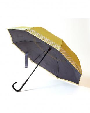 ライム×チェック  2重傘 circus(サーカス) 晴雨兼用見る
