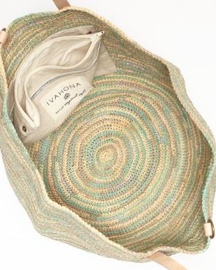 LAGON(グリーンマルチ)  ラメミックスバッグ MINDIA BIG|WOMEN見る