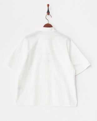 ホワイト  ビッグシルエット 半袖シャツ見る