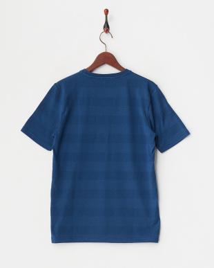 ブルー  立体ドットボーダーTシャツ見る