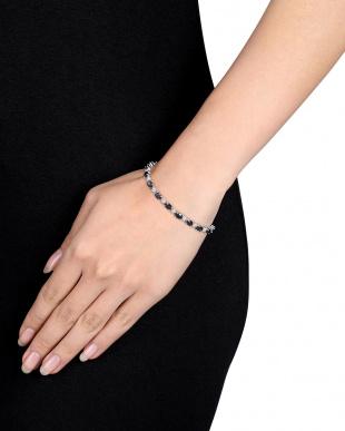 ダイヤモンド+ブラックサファイア(計11.6ct) ブレスレット見る