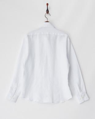 ホワイト リネンシャツ SLIM Art.U1105見る